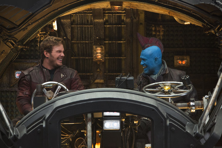 Guardians Of The Galaxy Vol. 2..BTS of Chris Pratt (Star-Lord/Peter Quill) and Yondu (Michael Rooker)..Ph: Chuck Zlotnick..©Marvel Studios 2017