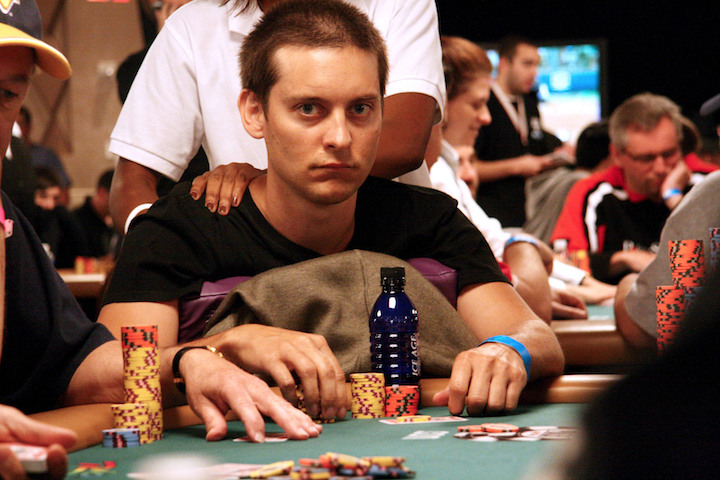 Photos © 2011 PacificCoastNews/The Grosby Group LAS VEGAS, NEVADA - Wednesday June 22 2011. FILE picture dated Wednesday July 18 2007 of Tobey Maguire attending the legal World Series of Poker event in Las Vegas. Maguire is one of a number of celebrities being sued in a multitude of lawsuits trying to reclaim more than $4 million allegedly won during unlicensed poker matches at upscale Beverly Hills hotels. Maguire is being sued for $311,000 plus interest. 22 people in all have been individually sued to try to recoup the money. The lawsuits claim the secret Texas Hold 'Em matches were played between 2006 and 2009, and that players won hundreds of thousands of dollars from Bradley Ruderman, architect of the Ponzi scheme. WB