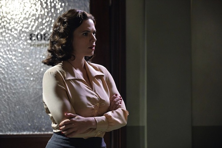 """MARVEL'S AGENT CARTER - """"Time & Tide"""" - As Agent Carter closes in on Howard Stark's stolen technology, Peggy's secret mission could unravel when the SSR arrests Jarvis and a secret is revealed, on """"Marvel's Agent Carter,"""" TUESDAY, JANUARY 13 (9:00-10:00 p.m., ET) on the ABC Television Network. (ABC/Eric McCandless) HAYLEY ATWELL"""